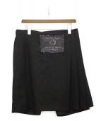 COMME des GARCONS HOMME PLUS(コムデギャルソンオムプリュス)の古着「ラップスカートパンツ」|ブラック