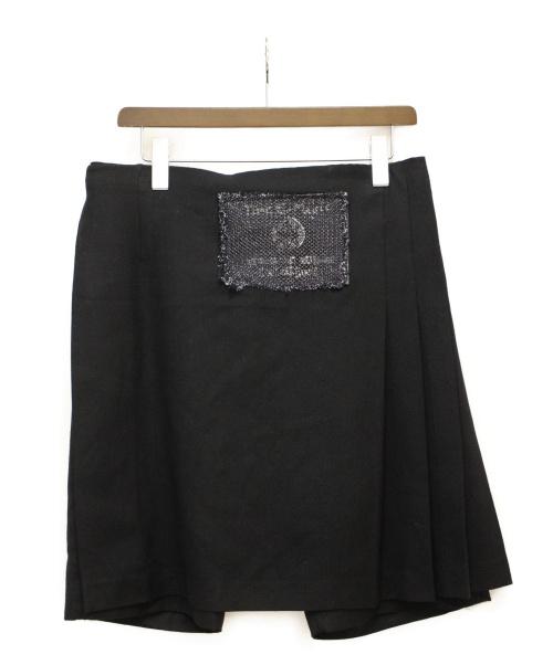 COMME des GARCONS HOMME PLUS(コムデギャルソン オムプリュス)COMME des GARCONS HOMME PLUS (コムデギャルソンオムプリュス) ラップスカートパンツ ブラック サイズ:Mの古着・服飾アイテム