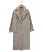 AMERI(アメリ)の古着「BLANKET LIKE FAKE MOUTON COAT」|ベージュ