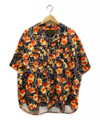PRIMALCODE(プライマルコード)の古着「オリジナルフラワーパターンシャツ」|ブラック
