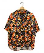 PRIMALCODE(プライマルコード)の古着「オリジナルフラワーパターンシャツ」 ブラック