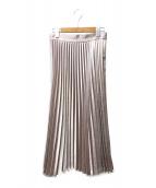 allureville(アルアバイル)の古着「クレーターサテンプリーツスカート」|ライトピンク