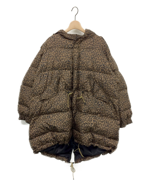 STAMMBAUM(シュタンバウム)STAMMBAUM (シュタンバーム) レオパードダウンコート ブラウン サイズ:XSの古着・服飾アイテム