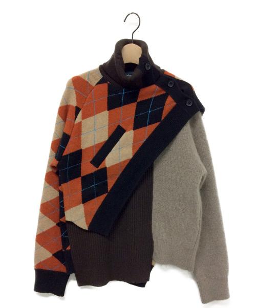 KOLOR(カラー)KOLOR (カラー) Argyle Turtle Knit サイズ:2の古着・服飾アイテム