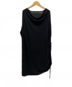 JULIUS(ユリウス)の古着「ロングカットソー」|ブラック