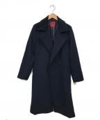 AMACA(アマカ)の古着「アンゴラライトビーバーローブウールコート」 ブラック