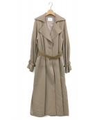 Ameri VINTAGE(アメリビンテージ)の古着「BACK CUTTING LACE COAT」|ベージュ