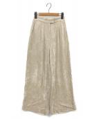 Ameri VINTAGE(アメリビンテージ)の古着「RAYON CORDUROY PANTS」|ベージュ