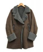()の古着「ボアコート」|ブラウン