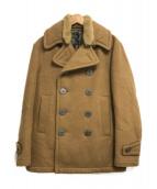 ()の古着「襟ボアPコート」|ベージュ
