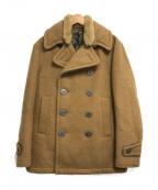 kolor/BEACON(カラービーコン)の古着「襟ボアPコート」 ベージュ