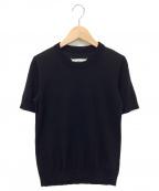 Maison Margiela 4(メゾンマルジェラ4)の古着「半袖ニット」 ブラック