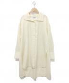 CABaN(キャバン)の古着「ウールツイルハイネックロングシャツ」 オフホワイト