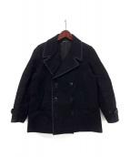 FRANK LEDER(フランクリーダー)の古着「ジャーマンレザーPコート」|ブラック