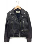 ACNE STUDIOS(アクネステュディオズ)の古着「レザーライダースジャケット」|ブラック