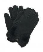 UGG(アグ)の古着「CL BOW SHORTYムートングローブ」|ブラック