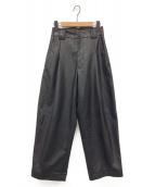 RUMCHE(ラムシェ)の古着「フェイクレザーパンツ」|ブラック