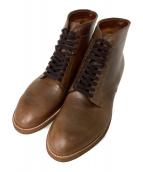 ()の古着「Modified Last Plain Toe Boots」 ブラウン