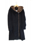 MaxMara(マックスマーラ)の古着「ウールカシミヤフーデッドコート」|ブラック