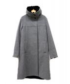 K.T KIYOKO TAKASE(ケーティーキヨコタカセ)の古着「アンゴラ混コート」|グレー