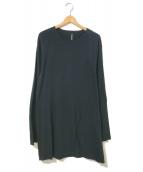 ()の古着「裾スリットオーバーサイズカットソー」|ブラック