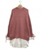Rirandture(リランドチュール)の古着「シャツレイヤードニットワンピース」|ピンク