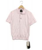 ATON(エイトン)の古着「ニットポロシャツ」|ピンク