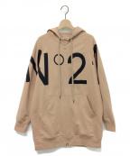 N°21 numero ventuno(ヌメロヴェントゥーノ)の古着「ジップパーカー」|ベージュ