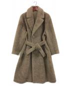 Blanc YM(ブランワイエム)の古着「Wool Pile Chesterfield Coat」|ブラウン