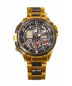 CITIZEN(シチズン)の古着「電波ソーラー腕時計」 ゴールド