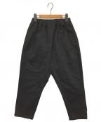 TRAVAIL MANUEL(トラバイユマニュアル)の古着「コンパクトチノサドルパンツ」|ブラック