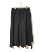 ()の古着「T/Wギャバジンパンツスカート」 ブラック