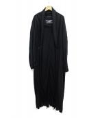 ()の古着「Cut-out Stole Coat」|ブラック