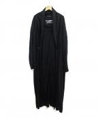Yohji Yamamoto pour homme(ヨウジヤマモトプールオム)の古着「Cut-out Stole Coat」|ブラック