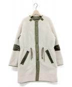 JANE SMITH(ジェーンスミス)の古着「リバーシブルボアコート」|アイボリー