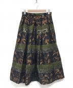 IENA LA BOUCLE(イエナ ラ ブークル)の古着「モールジャガードタックスカート」|ブラウン