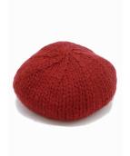 UNDERCOVER×KIJIMA TAKAYUKI(アンダーカバー×キジマ タカユキ)の古着「U刺繍ニットベレー帽」|ワインレッド