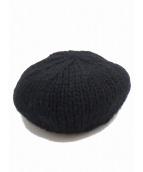 UNDERCOVER×KIJIMA TAKAYUKI(アンダーカバー×キジマ タカユキ)の古着「U刺繍ニットベレー帽」|ブラック