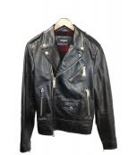 DSQUARED2(ディースクエアード)の古着「ダブルライダースジャケット」|ブラック