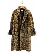 PONTI(ポンチ)の古着「レオパードフェイクファーコート」|ブラウン
