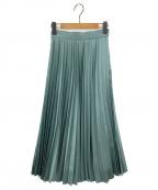 EMMEL REFINES(エメル リファインズ)の古着「FC HWプリーツスカート」|グリーン