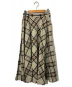 ()の古着「UWSC W/N フレアスカート」|ベージュ