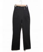 FENDI JEANS(フェンディ ジーンズ)の古着「[OLD]ビットロゴベルトループパンツ」|ブラック