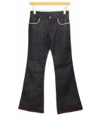 GUCCI(グッチ)の古着「フレアデニムパンツ」|インディゴ