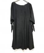Sybilla(シビラ)の古着「袖リボンワンピース」 ブラック