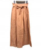 Sybilla(シビラ)の古着「リネンワイドパンツ」 オレンジ