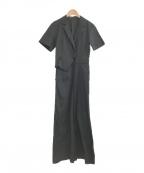 Lily Brown(リリーブラウン)の古着「20SS テーラードカラーオールインワン」 ブラック