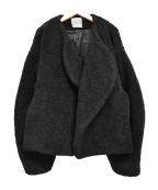 toteme(トーテム)の古着「19AW フェイクファー ショートジャケット」|ブラック
