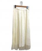 Whim Gazette(ウィムガゼット)の古着「レースボリュームスカート」 ホワイト