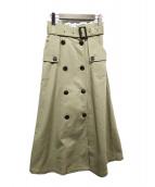 ()の古着「トレンチスカート」 カーキ